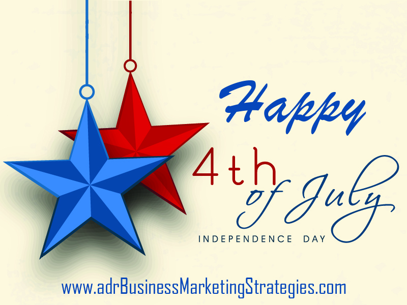 Happy 4th of July 2017 from adrBMS - adr Business & Marketing Strategies wishes you a very Happy Independence Day! | 256.345.3993