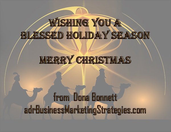 adr Business & Marketing Strategies would like to wish you a blessed holiday and a very Merry Christmas 2016!